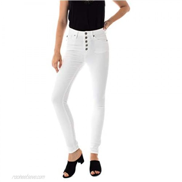 Kan Can Women's High Rise Super Skinny Jeans 15/31