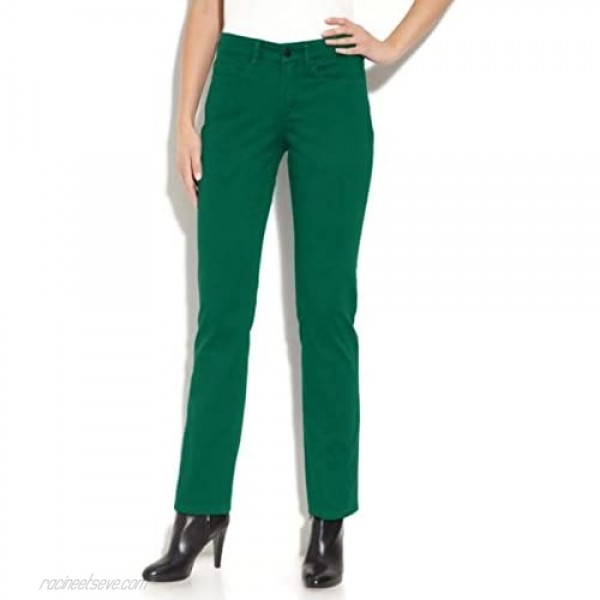 NYDJ Jeans 4P Sheri Skinny in Viridian Green Stretch Denim Pants Not Your Daughters Jeans
