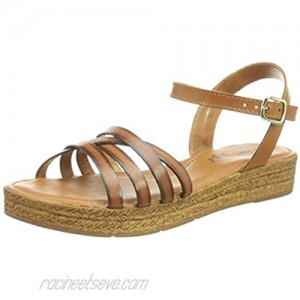 s.Oliver Women's 5-5-28207-26 Flat Sandal Cuoio 7.5 US