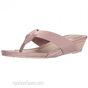 Kenneth Cole REACTION Women's Date Low Wedge Thong Sandal Satin