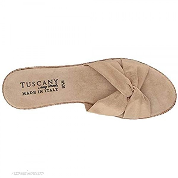 Tuscany by Easy Street Women's Dinah Wedge Sandal Natural 6 W US