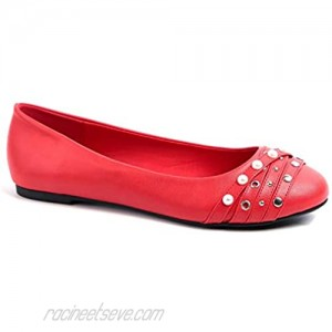 MaxMuxun Women Shoes Round Toe Slip On Classic Ballet Flats