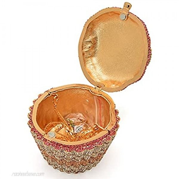 Cupcake Crystal Clutch Wedding and Party Eveing bag