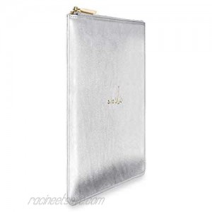 Katie Loxton Perfect Pouch Oh So Chic Metallic Silver Women's Vegan Leather Clutch