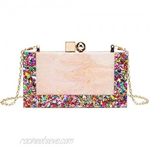 LETODE New acrylic contrast color stitching clutch for Women Wedding Party Clutch bag