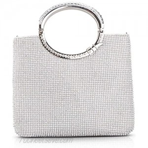 LIFEWISH Womens Crystal Rhinestone Evening Bags Bling Clutch Purses for Prom Cocktail Party Wedding