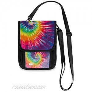 ALAZA Abstract Swirl Design Tie Dye Small Crossbody Wallet Purse Cell Phone Bag Rfid Passport Holder with Credit Card Slots