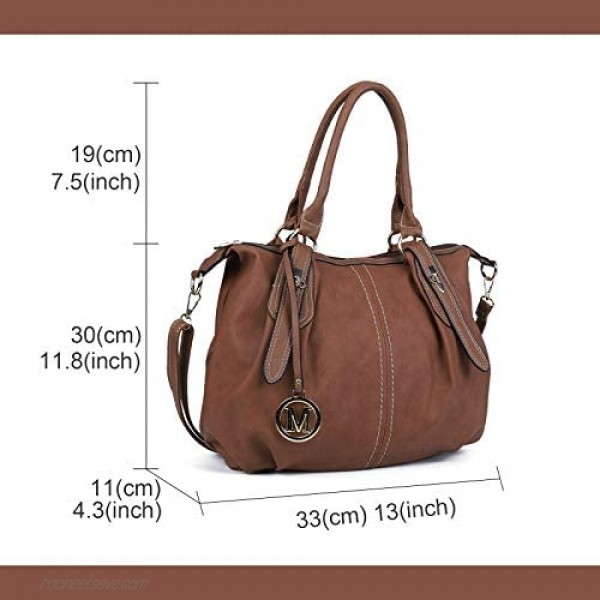 Large Tote Bags for Women Leather Hobo Purses and Handbags with Adjustable Strap Sturdy Top Handle Satchel bags
