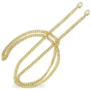 Torostra BL-G 6MM Width Chain Strap Handbags Replacement Chains for Wallet Clutch Satchel Tote Bag 47 Purse Chain Shoulder Crossbody Bags Replacement Straps Gold Plated Hardware Flat Chain - Gold