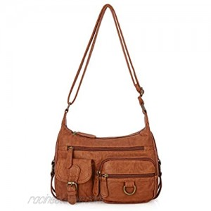 Angel Barcelo Cross body Shoulder Bag Women Soft PU Leather Purses and Handbags Middle Size