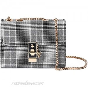 Small Crossbody Bag for Women Cute Lightweight Leather Purses Mini Shoulder Bag with Chain Strap