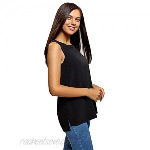 oodji Ultra Women's Straight-Fit Round Neck Top