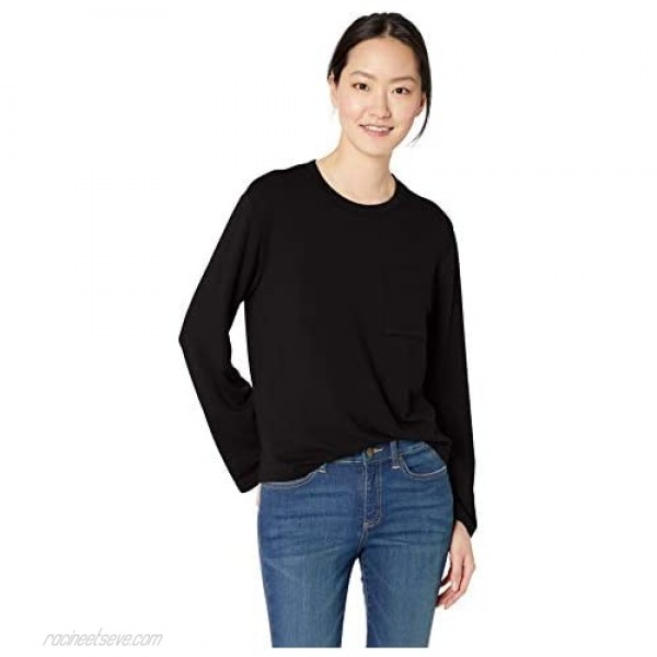 Daily Ritual Women's Supersoft Terry Long-Sleeve Boxy Pocket Tee